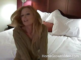 Large tit golden-haired non-professional playgirl is a true wang wench