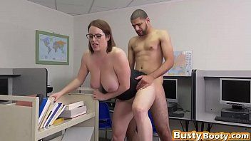 Breasty secretary at the library getting vagina filled up