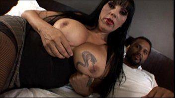 Large tit aged milf likes large ebony jock in interracial dilettante clip